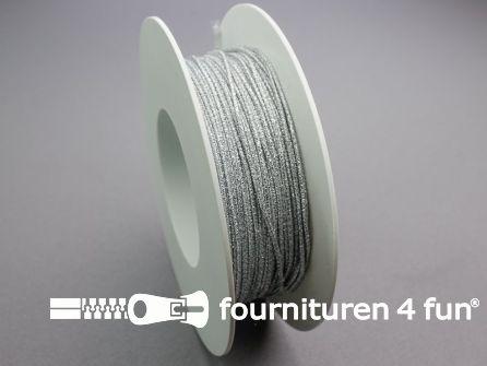 Rol 50 meter elastisch koord 1mm zilver