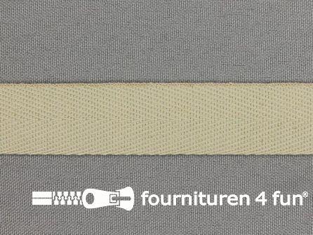 Luxe keperband 20mm zand beige
