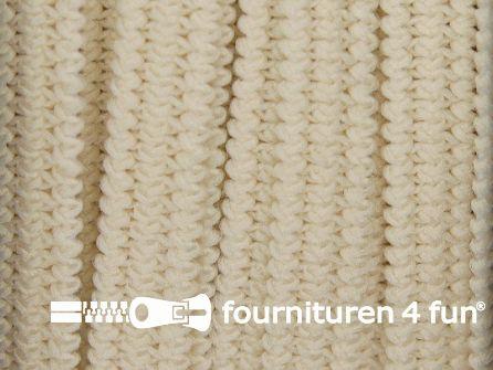 Rol 50 meter soepel elastiek 5mm beige