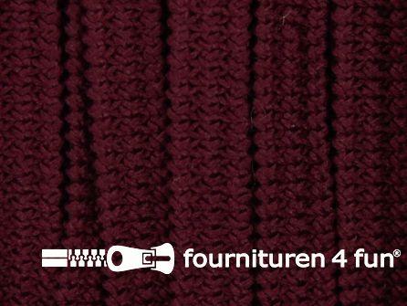 Rol 50 meter soepel elastiek 5mm bordeaux rood