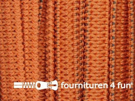 Rol 50 meter soepel elastiek 5mm brique oranje