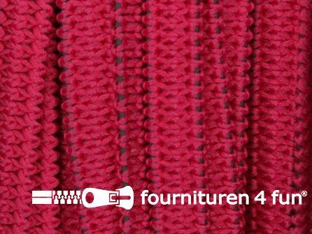 Rol 50 meter soepel elastiek 5mm fuchsia roze