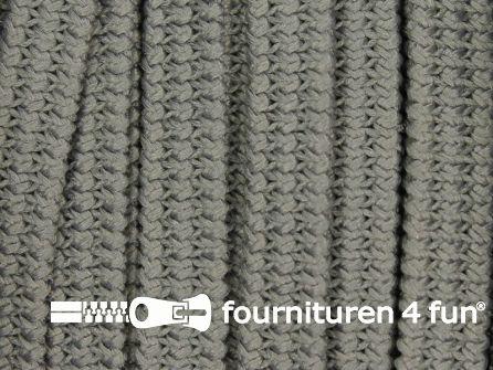 Rol 50 meter soepel elastiek 5mm grijs