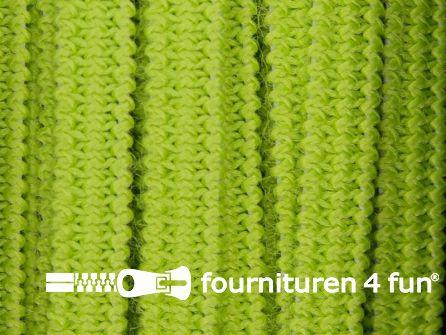 Rol 50 meter soepel elastiek 5mm lime groen