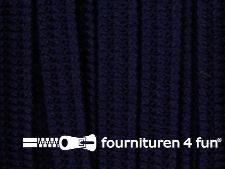 Rol 50 meter soepel elastiek 5mm marine blauw