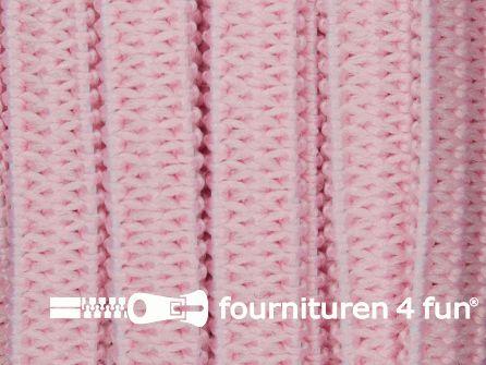 Rol 50 meter soepel elastiek 5mm roze