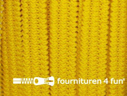 Rol 50 meter soepel elastiek 5mm geel
