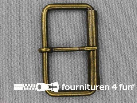 Metalen rolgesp 60mm brons
