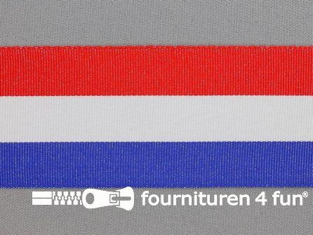 Deco lint 50mm rood - wit - blauw
