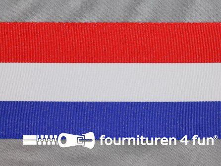 Deco lint 67mm rood - wit - blauw