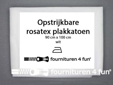 Opstrijkbare rosatex-plakkatoen 90x100cm wit