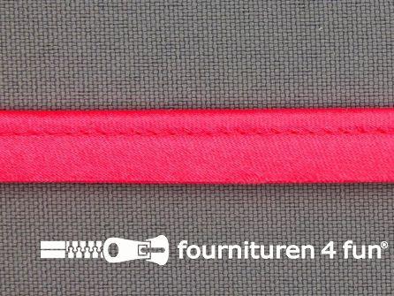 Rol 25 meter satijnen paspelband 10mm neon roze