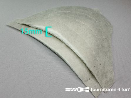 Schoudervullingen - mantelvulling - grijs - circa 15mm