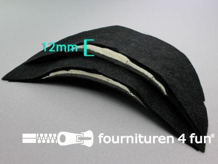 Schoudervullingen - mantelvulling - zwart - circa 12mm