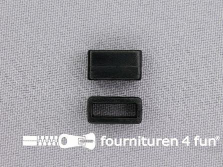 Schuifpassant - rechthoek - 10mm zwart kunststof