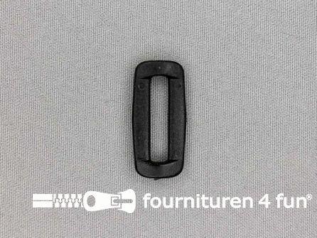 Schuifpassant 25mm zwart kunststof