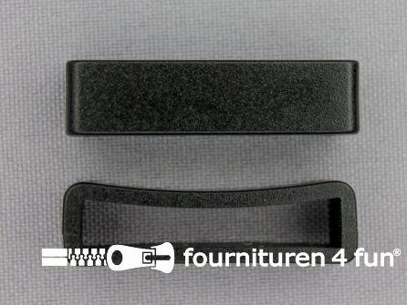 Schuifpassant 32mm zwart kunststof
