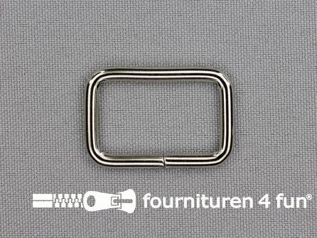 Schuifpassant 26mm zilver - rechthoek - heavy duty