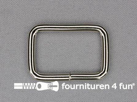 Schuifpassant 30mm zilver - rechthoek - heavy duty