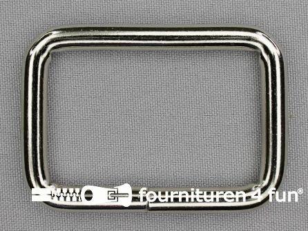 Schuifpassant 50mm zilver - rechthoek - heavy duty