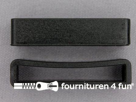 Schuifpassant 38mm zwart kunststof