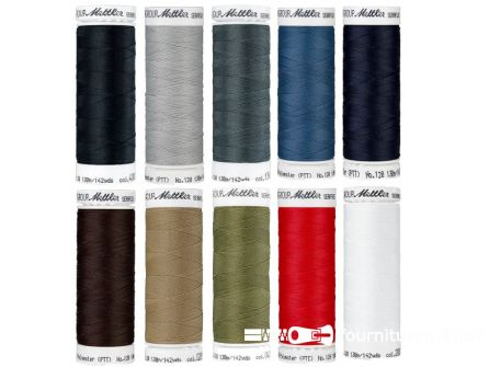 Seraflex - elastisch naaigaren - basiskleuren -  10 klossen
