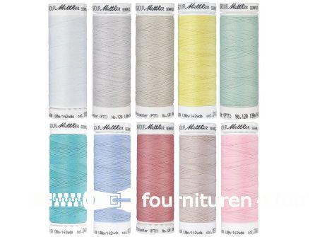 Seraflex - elastisch naaigaren - pastelkleuren - 10 klossen
