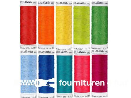 Seraflex - elastisch naaigaren - regenboogkleuren - 10 klossen