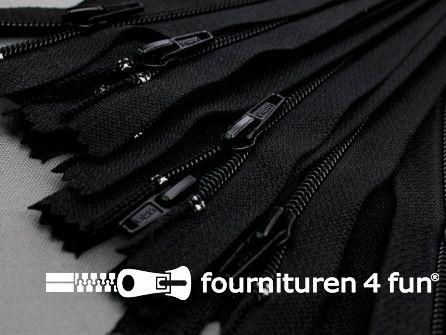 10 stuks nylon broek ritsen 8cm zwart
