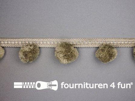 Sierband met pompons lever beige