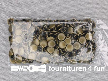 Siernieten 9mm geel brons navulling 100 stuks