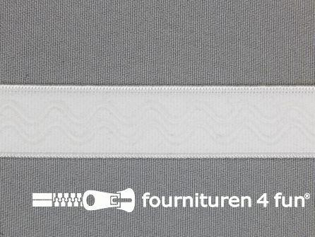 Siliconen elastiek 20mm wit