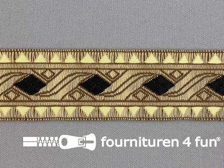 Sinterklaasband 30mm goud - zwart