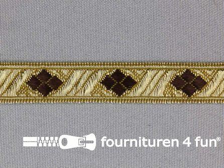 Sinterklaasband 14mm goud - bruin