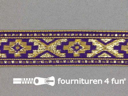 Sinterklaasband 21mm goud - paars