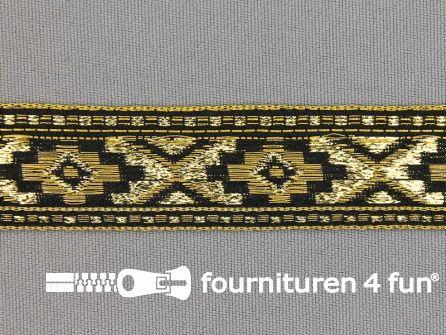 Sinterklaasband 21mm goud - zwart