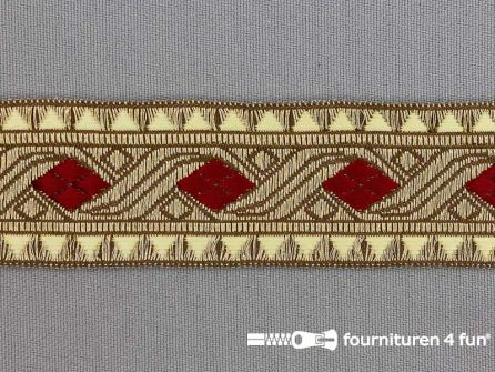 Sinterklaasband 30mm goud - rood