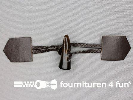 Skai houtje touwtje 45x180mm donker bruin