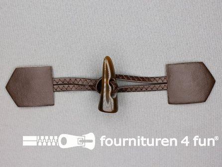 Skai houtje touwtje 45x180mm bruin