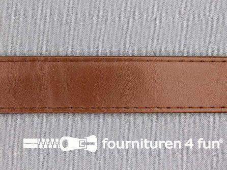 Skai tassenband 25mm licht bruin
