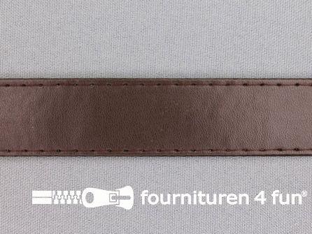 Skai tassenband 25mm donker bruin