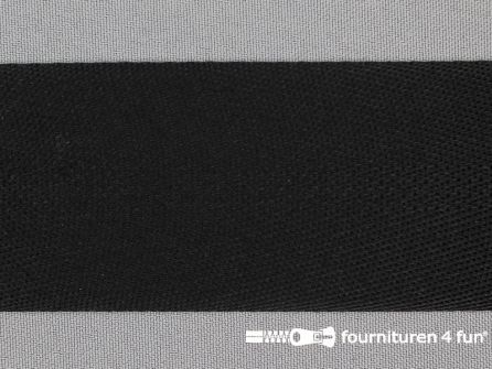 COUPON 4 stukken, totaal 5,8 meter (1+1,4+1,75+1,65 meter) Soepel tassenband 50mm zwart