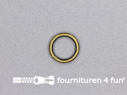 Stalen ring 15mm brons