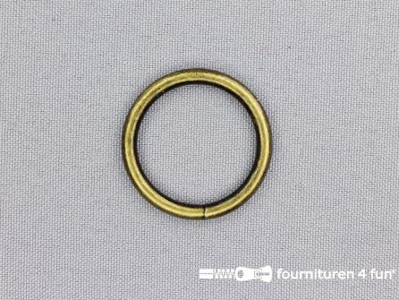 Stalen ring 25mm brons