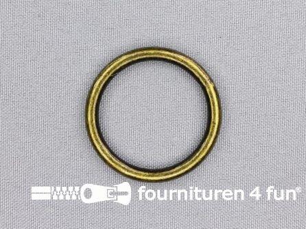 Stalen ring 30mm brons