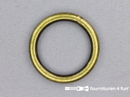Stalen ring 35mm brons
