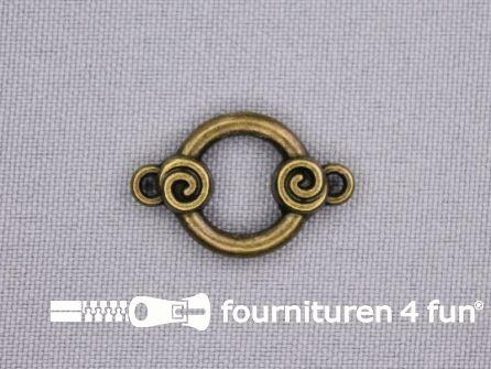 Steampunk hanger 25x16mm brons