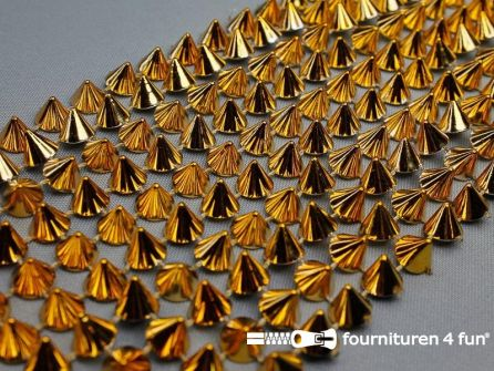 Strass band 110mm spikes goud