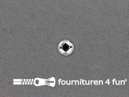 10 stuks Strass stenen rond 8mm zilver