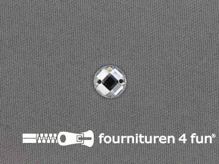 10 stuks Strass stenen rond 10mm zilver
